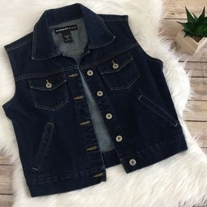 Express Jeans Sleeveless Dark Wash Denim Jacket🌺